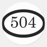 504th Parachute Infantry Round Sticker