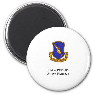 504th PIR- I'm a Proud Army Parent 6 Cm Round Magnet