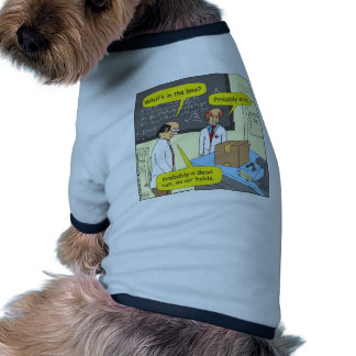 505 cat in box physics cartoon dog tee shirt