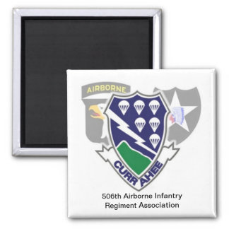 506th airborne infantry square magnet