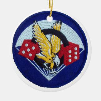 506th Parachute Infantry Regiment Round Ceramic Decoration