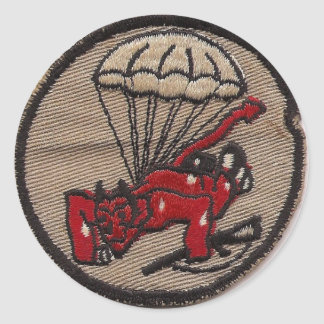 508th PIR Fury from the Sky Classic Round Sticker