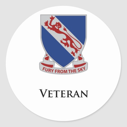 508th PIR- Veteran Classic Round Sticker