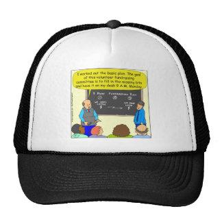 509 fundraising plan cartoon trucker hat