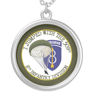 509th Airborne [8th ID] Round Pendant Necklace