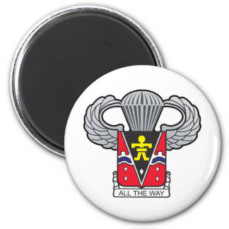 509th Airborne Crest with Airborne Wings 6 Cm Round Magnet
