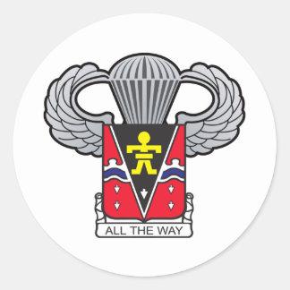 509th Airborne Crest with Airborne Wings Round Sticker