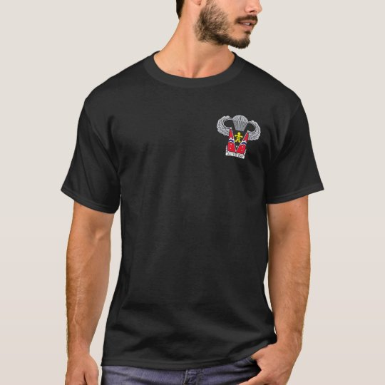 509th Airborne Crest with Airborne Wings T-Shirt