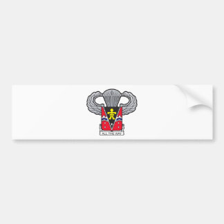 509th Airborne with Airborne Wings 2 Bumper Sticker