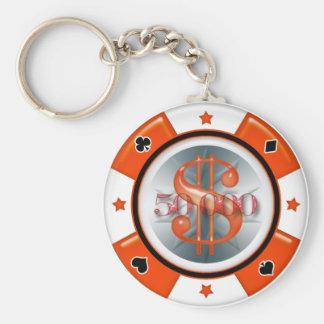 $50,000.00 Poker Casino Gambling Chip Key Ring