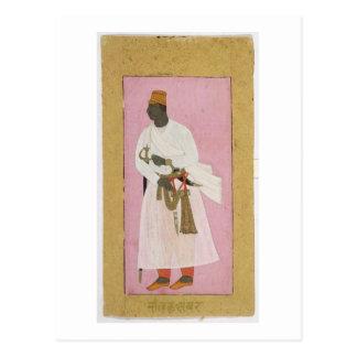 50.14/8 Portrait of Malik Amber, inscribed in Deva Postcard