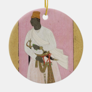 50.14/8 Portrait of Malik Amber, inscribed in Deva Round Ceramic Decoration