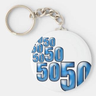 50 50 50 KEY RING