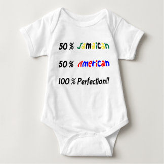 50/50 Jamaican and American mix Baby vest Shirts
