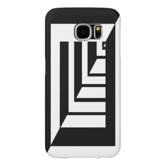 50/50 wall, bars Modern black and white art deco Samsung Galaxy S6 Cases