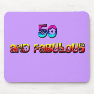 50 and fab rainbow mouse mat