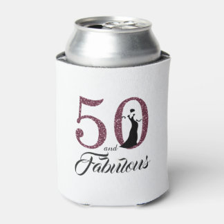 50 and Fabulous | 50th Birthday Gift Can Cooler