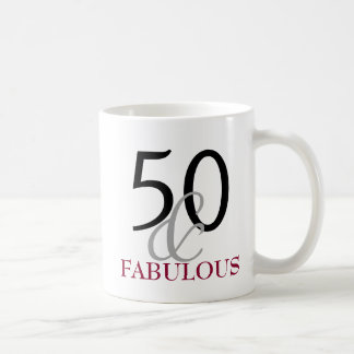 50 and Fabulous 50th Birthday Gift Mug