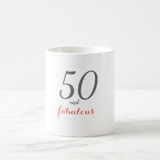 50 and Fabulous 50th Birthday Mug
