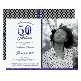 50 and Fabulous | 50th Birthday Party Invitation