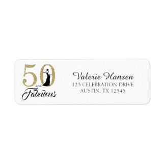 50 and Fabulous 50th Birthday Return Address Label