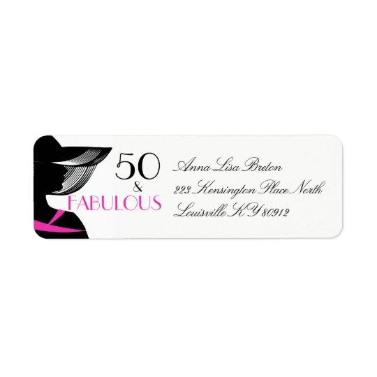 50 and Fabulous Art Deco Elegant 50th Birthday