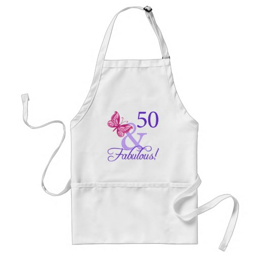 50 And Fabulous Birthday Aprons