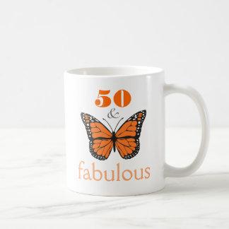 50 and Fabulous Birthday Butterfly Gift Mug