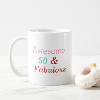 50 and Fabulous Birthday Gift Mug