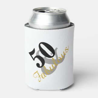 50 and Fabulous Birthday Party Can Cooler