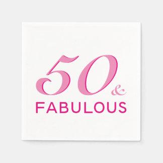 50 and Fabulous Birthday Party Napkins Paper Napkin