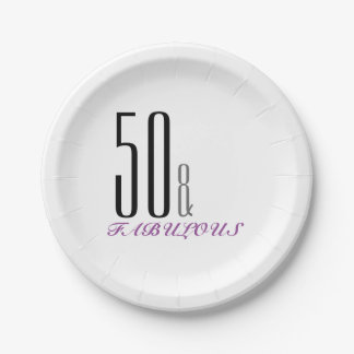 50 and Fabulous Birthday Party Paper Plates