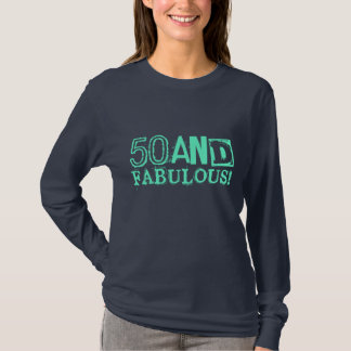 50 and fabulous! Birthday shirt | Vintage style
