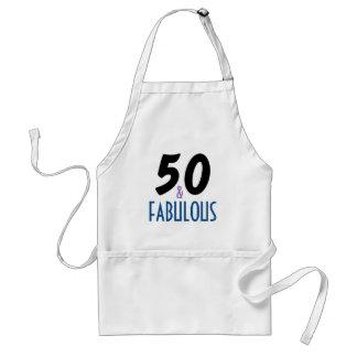 50 and Fabulous Birthday Standard Apron