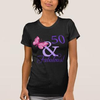 50 And Fabulous Birthday Tshirt