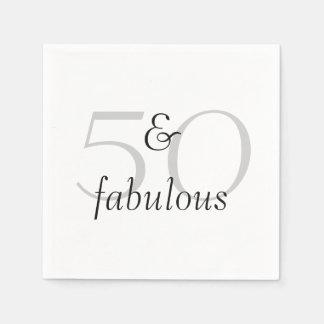 50 and Fabulous Disposable Serviette
