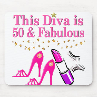 50 AND FABULOUS DIVA MOUSE MAT