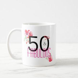 50 and Fabulous Elegant 50th Birthday Party Coffee Mug