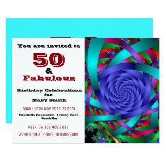 50 and fabulous fiftieth birthday invitation