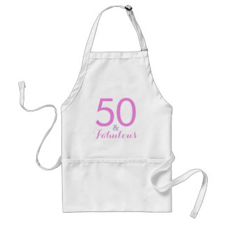 50 and Fabulous Fiftieth Birthday Party Apron