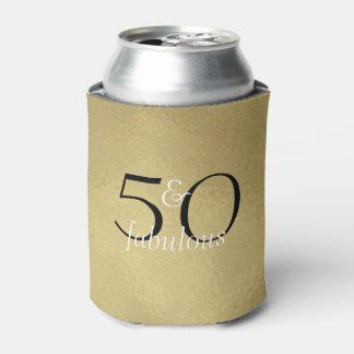 50 and Fabulous Glam Gold Black White Birthday
