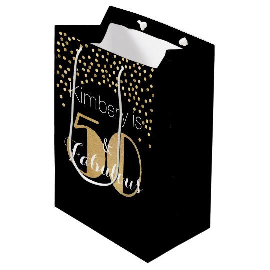 50 And Fabulous Gold Personalised Birthday Party Medium