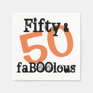 50 and Fabulous Halloween - Fifty and FaBOOlous Disposable Serviettes