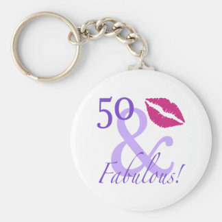 50 And Fabulous Keychain