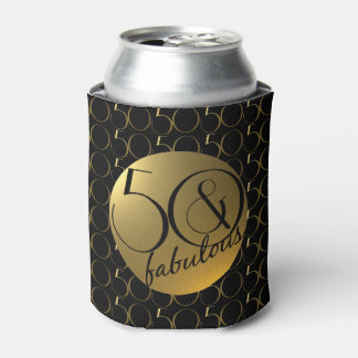 50 and Fabulous Metallic Gold Effect Can Cooler