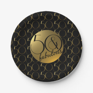 50 and Fabulous Metallic Gold Effect Plate