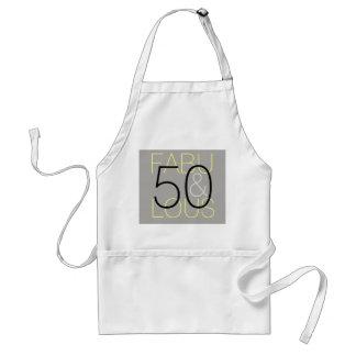 50 and Fabulous Modern Grey & Yellow Standard Apron