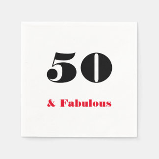 50 and Fabulous Old Person Napkin Disposable Serviettes