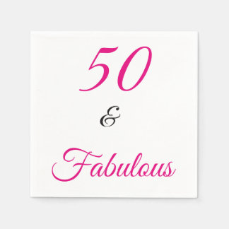 50 and Fabulous Paper Napkin