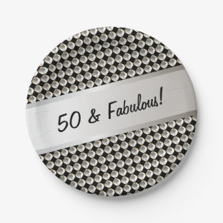 50 and Fabulous | Paper Plate